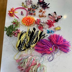 Gymboree bows & hair ties, misc bows, headband